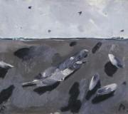 Natura morta marina con la penna