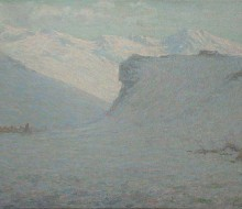 Neve in Alta Montagna (Alba sul ghiacciaio)