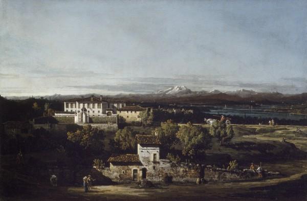 Veduta di Villa Perabò poi Melzi a Gazzada