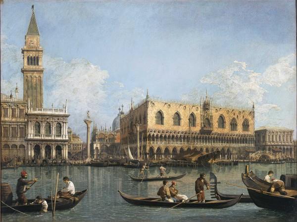 Veduta del bacino di San Marco dalla Punta della Dogana