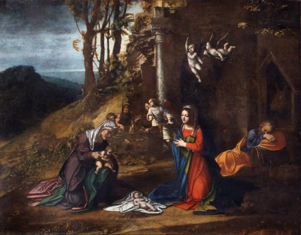 Natività di Gesù con Santa Elisabetta e San Giovannino