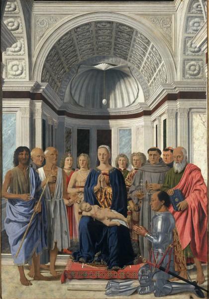 La Vergine con il Bambino, angeli e Santi (Pala Montefeltro)