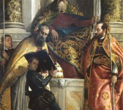 Saint Anthony Abbot between Saints Cornelius and Cyprian