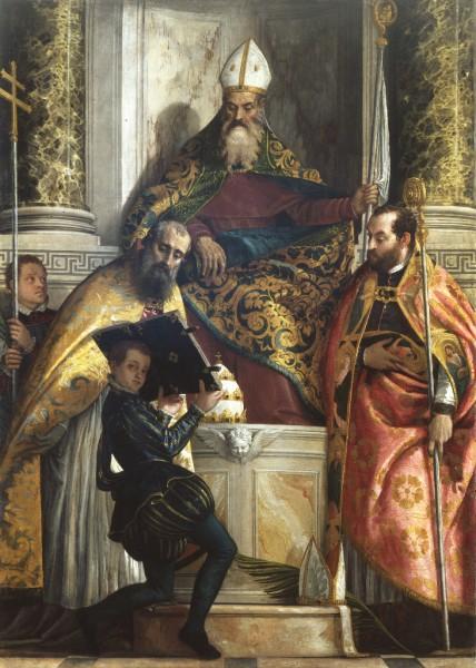Sant'Antonio abate tra i Santi Cornelio e Cipriano