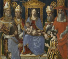 "Virgin and Child Enthroned with the Doctors of the Church and the family of Ludovico il Moro (""Sforza Altarpiece"")"