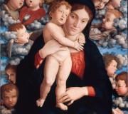 Madonna and Child with a Choir of Cherubs (Madonna of Cherubs)