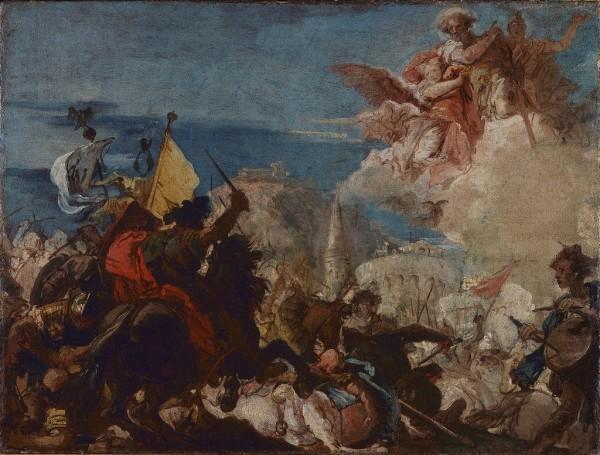 I Santi Faustino e Giovita appaiono in difesa di Brescia assaltata da Nicola Piccinino nel 1438