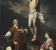 Crucifixion with Mary Magdalene, Saint Eusebius and Saint Philip Neri