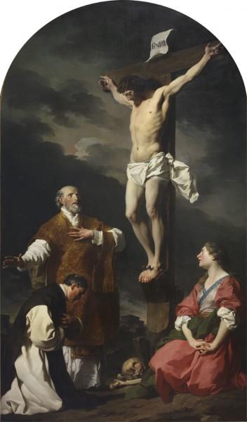 Cristo in croce tra Sant'Eusebio, San Filippo Neri e la Maddalena