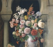 A Vase of Flowers on the Window of a Harem