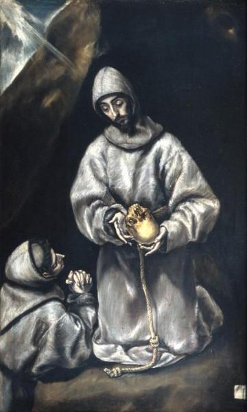 San Francesco medita sulla morte