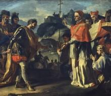 L'incontro di Ratchis, re dei Longobardi e di papa Zaccaria durante l'assedio di Perugia