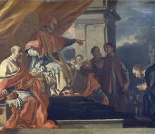 Saint Willibald Asking for Pope Gregory III's Blessing before Going to Evangelize the Saxons