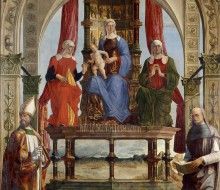 Virgin and Child Enthroned with Saints Anne, Elisabeth, Augustine and the Blessed Pietro degli Onesti