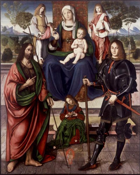 Madonna con Bambino in trono tra San Giovanni Battista e San Floriano
