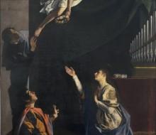 I Santi martiri Cecilia, Valeriano e Tiburzio visitati dall'angelo