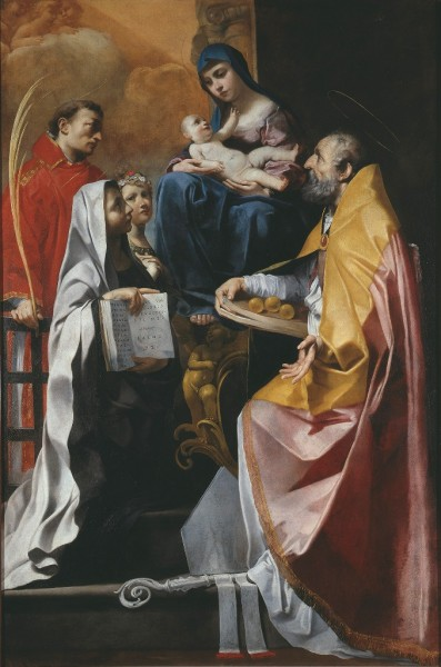 Madonna con il Bambino e i Santi Lorenzo, Nicola e Francesca Romana