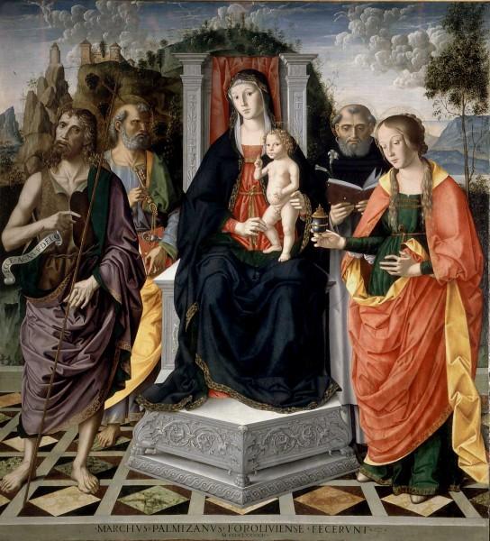 Madonna con Bambino in trono con San Giovanni Battista, San Pietro, San Domenico e Santa Maria Maddalena