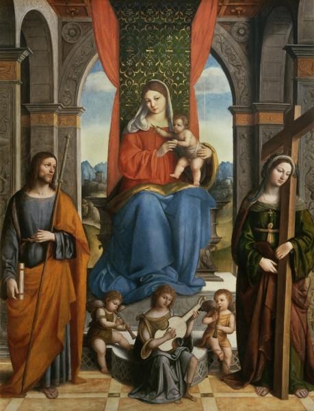 Madonna con il Bambino e i Santi Giacomo di Galizia ed Elena
