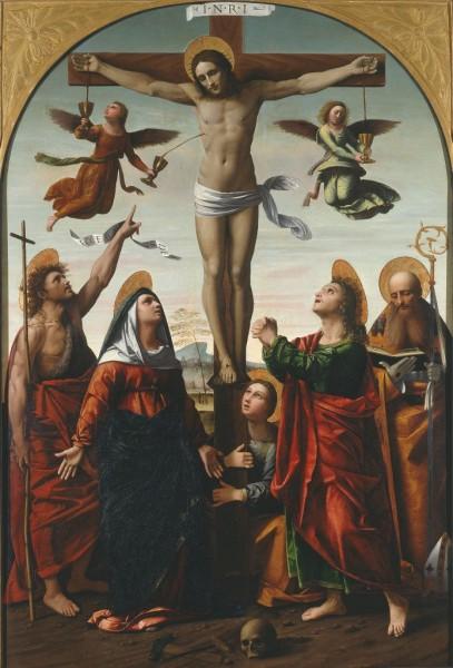 La Crocifissione con la Vergine e i Santi Giovanni Battista, Maddalena, Giovanni Evangelista ed Agostino