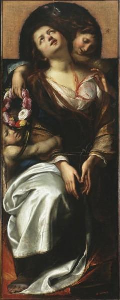Santa Cecilia e due angeli