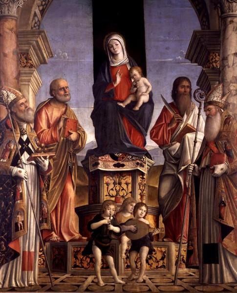 Madonna con Bambino in trono tra San Nicola, San Pietro, San Bartolomeo e Sant'Agostino
