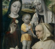 Madonna con il Bambino, Santa Caterina da Siena e un monaco certosino