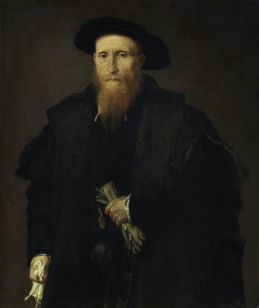 Ritratto di gentiluomo anziano con guanti (Liberale da Pinedel?)