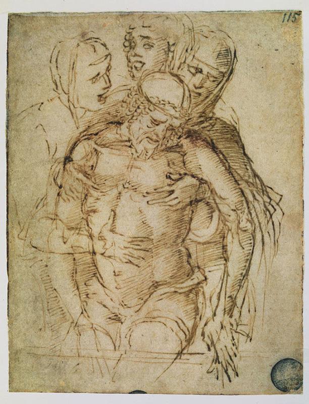 Mantegna, Cristo in pietà tra Maria Maddalena, san Giovanni Battista e la Vergine (Gallerie dell'Accademia di Venezia)