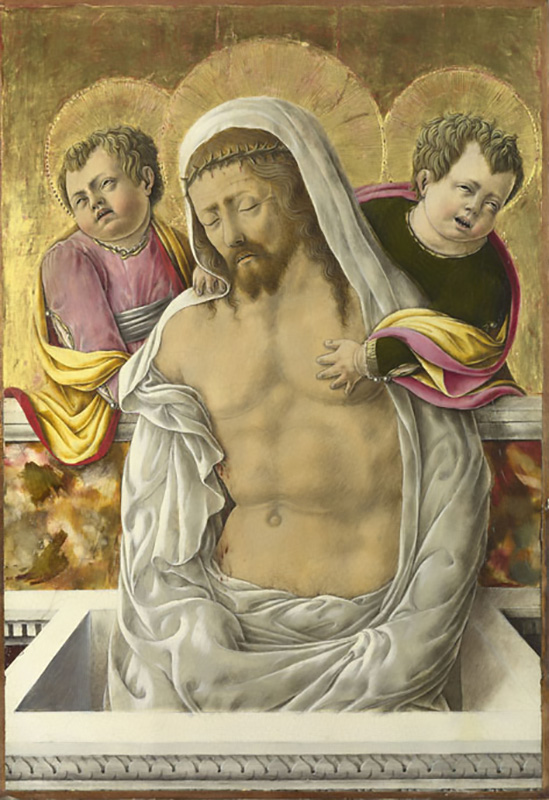 Giorgio Schiavone, Cristo in pieta e angeli (Londra, National Gallery)