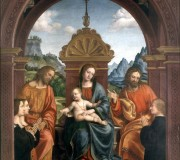 Madonna and Child Enthroned with Saints James and Philip and the Busti Family (Busti Altarpiece)