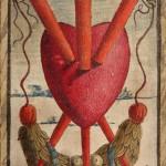 Nicola di maestro Antonio, Tre di spade, 1490 ca