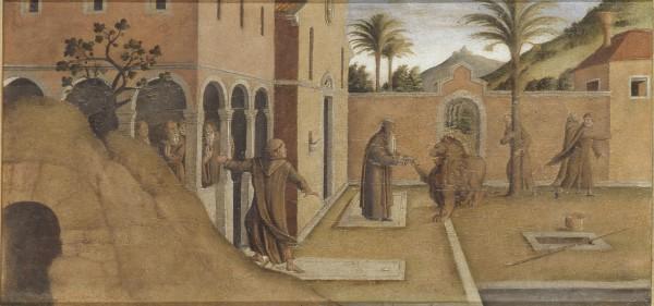 San Gerolamo porta il leone al convento
