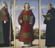 Santo Stefano tra i Santi Agostino e Nicola da Tolentino
