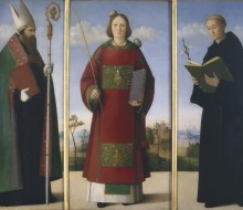 Saint Stephen between Saints Augustine and Nicholas of Tolentino