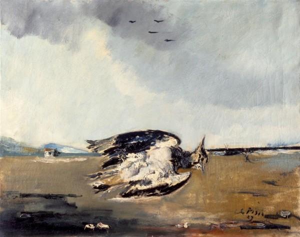 Natura morta marina con la pavoncella