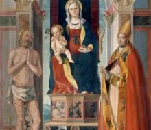 Madonna con il Bambino in trono tra i Santi Giobbe e Gottardo