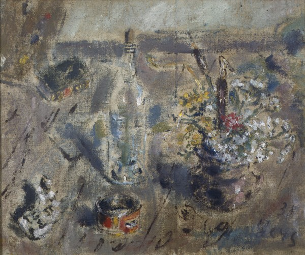 Still Life with Flowers and Bottle