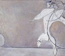 Angelo ribelle con luna bianca