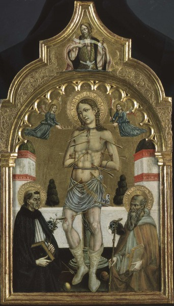 San Sebastiano tra i Santi Domenico e Antonio abate
