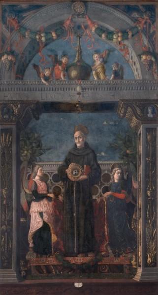 San Bernardino da Siena e angeli