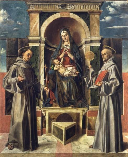 Madonna con il Bambino in trono tra San Francesco e San Bernardino