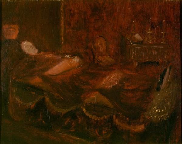 Il cardinale Vannutelli sul letto di morte