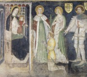 Madonna and Child with Saint Catherine, Saint Ursula, Saint George and the Devotee Teodorico da Coira