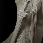 Antonio Canova, Napoleone in veste di Marte pacificatore, part.