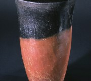 Black Topped Red Ware Beaker with Everted Rim
