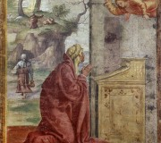 Annunciation to Saint Anne; Saint Joachim and the Angel in the Background