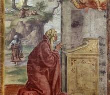 Annunciazione a Sant'Anna, sullo sfondo San Gioacchino e l'Angelo