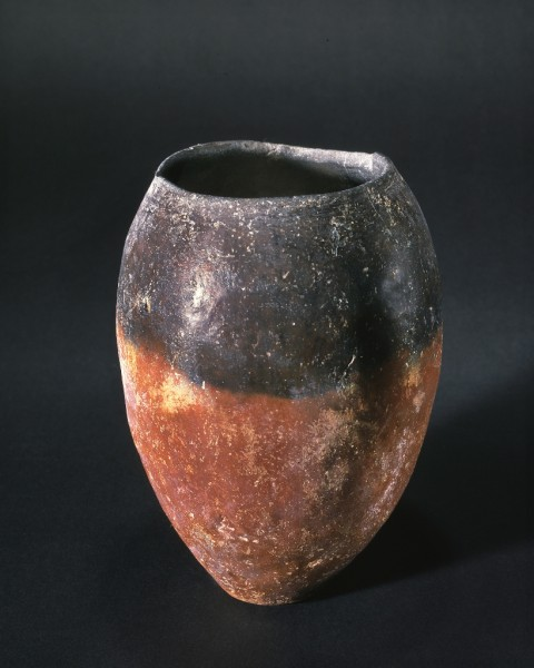 """Vaso """"a bocca nera"""" di forma ovoidale"""