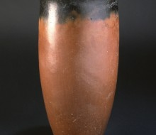 Black Topped Red Ware Beaker with Slightly Everted Rim